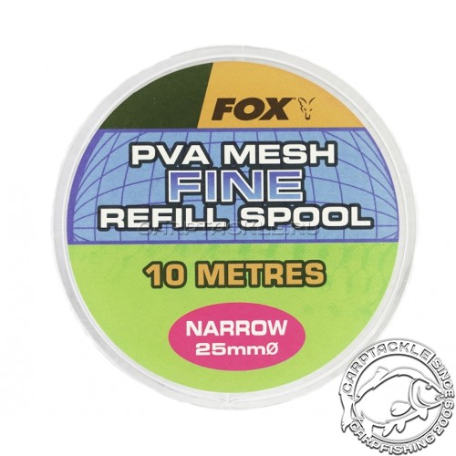 ПВА сетка Fox PVA Mesh Fine Refill Spool Wide 25mm/10m