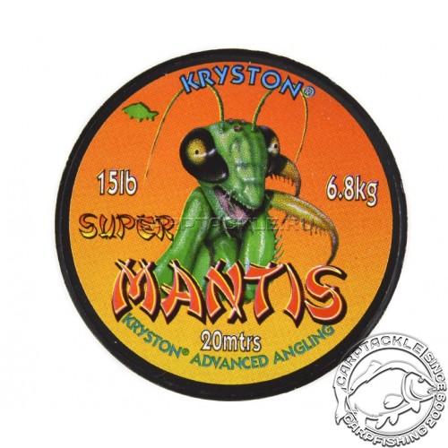 Поводковый материал Kryston SUPER MANTIS зеленый 15LB 20м