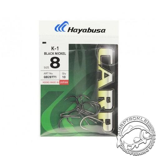 Крючки карповые черный никель размер №10 Hayabusa K-1