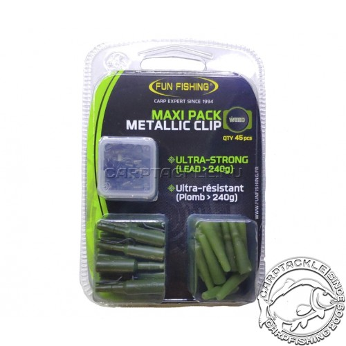 Набор безопасных клипс Fun Fishing Maxi Pack Metallic Clip
