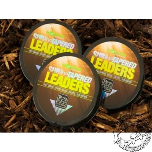 Шок лидер конический Korda Subline Tapered Leader Brown
