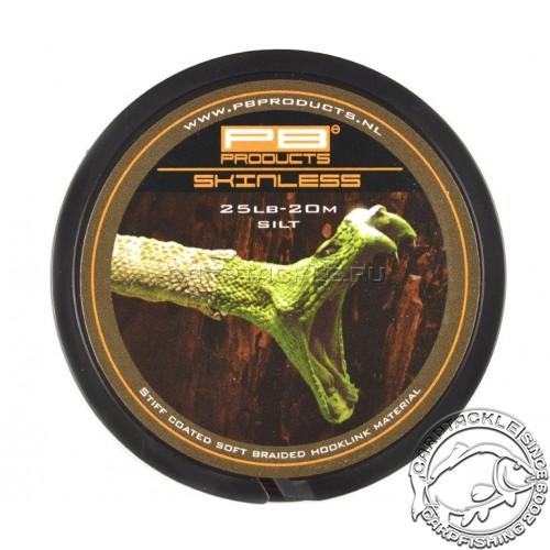 Поводковый материал PB Products Skinless Silt 25lb 20m