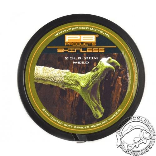 Поводковый материал PB Products Skinless Weed 25lb 20m