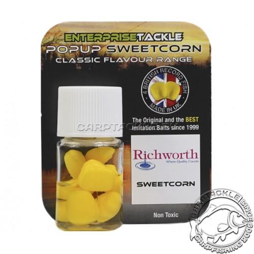 Искусственная плавающая насадка Enterprise Tackle Pop Up Sweetcorn Richworth Sweetcorn Yellow Кукуруза