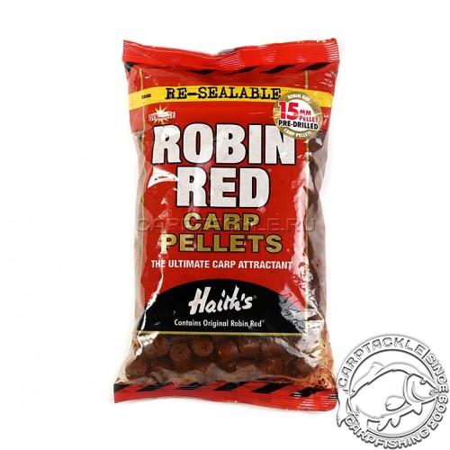 Пеллетс DYNAMITE BAITS Robin Red 15mm 900gr тонущий просверленный пеллетс Робин Ред