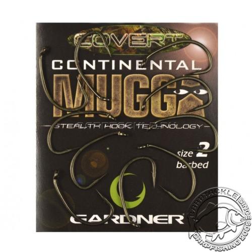 Крючки карповые размер №2 Gardner Covert Longshank Mugga