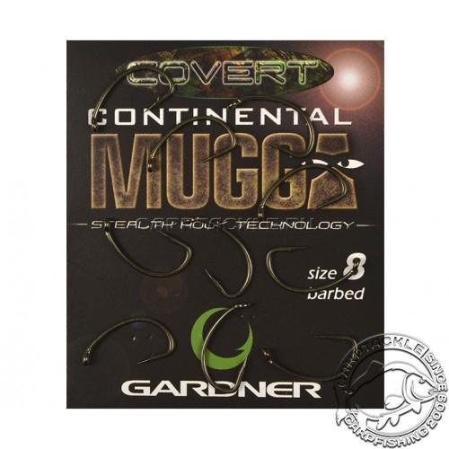 Крючки карповые размер №8 Gardner Covert Longshank Mugga