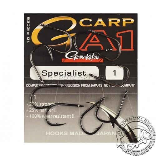 Крючки карповые размер №1 Gamakatsu G-Carp A-1 Specialist PTFE