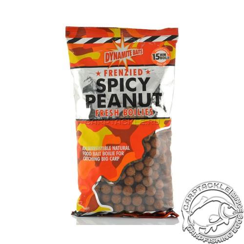 Тонущие бойлы 15мм Dynamite Baits Spicy Peanut 1kg 15mm Острый арахис