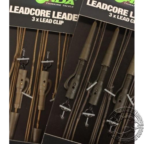 Набор готовых оснасток Korda Leadcore-Lead Clip 1м Gravel 3 шт
