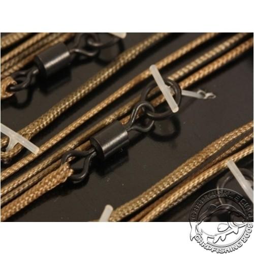 Набор готовых оснасток Korda Leadcore-Ring Swivel 1м Gravel 3 шт