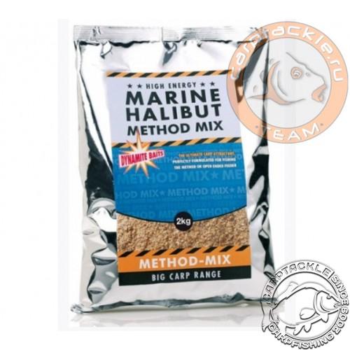 Прикормочная смесь Dynamite Baits Marine Halibut Method Mix 2kg прикормка методная Палтус