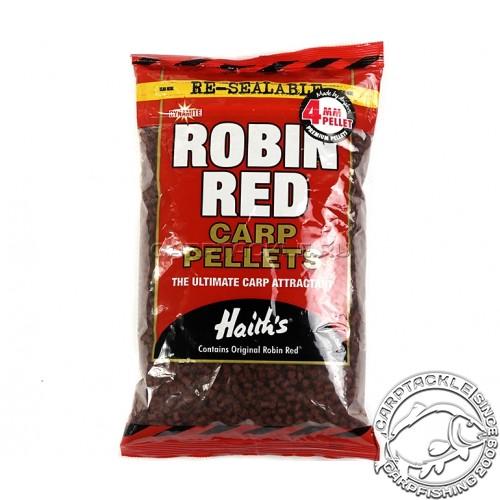 Пеллетс DYNAMITE BAITS Robin Red 4mm 900g тонущий пеллетс Робин Ред