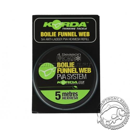 Сетка Korda PVA Boilie Funnel Web Hexmesh 5m