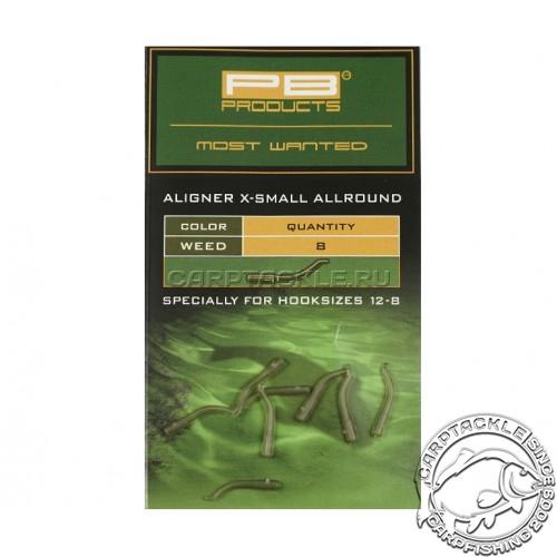 Изогнутая трубка для крючка PB Products Aligners X-small Allround Weed (8шт)