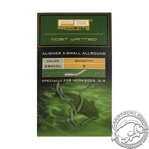 Изогнутая трубка для крючка PB Products Aligners X-small Allround Gravel (8шт)