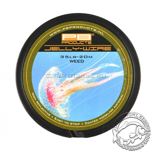 Поводковый материал PB Products Jelly Wire Weed 15lb 20m