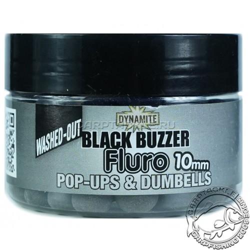 Плавающие бойлы 10мм Dynamite Baits Black Buzzer Fluro + Liquid Booster 10mm