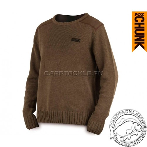 Свитер размер XXL Fox CHUNK™ Heavy Knit Jumper Khaki XX Large