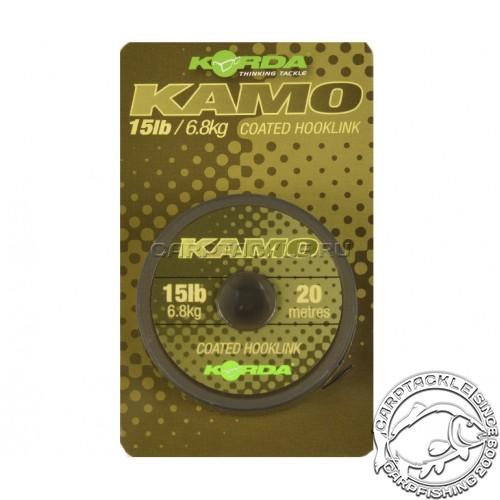Поводковый материал Korda Kamo Coated Hooklik 15lb 20м