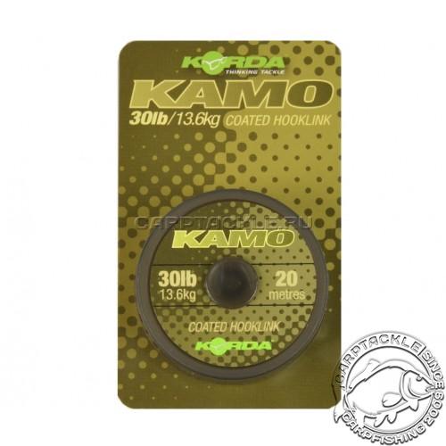 Поводковый материал Korda Kamo Coated Hooklik 20lb 20м