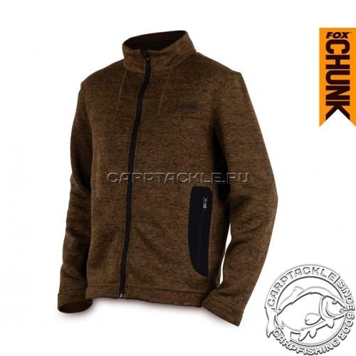 CHUNK™ Medium Knit Cardigan - Small Khaki Marl куртка трикотажная на молнии